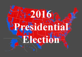 map of the US 2016 presidential election results by county (Ali Zifan via Wikimedia Commons)