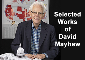 photo of David Mayhew with text announcing his selected works