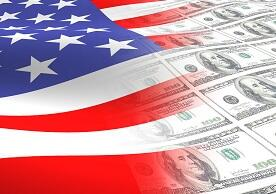 image of US flag and US paper currency