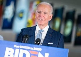 Joe Biden campaigning for President in 2020